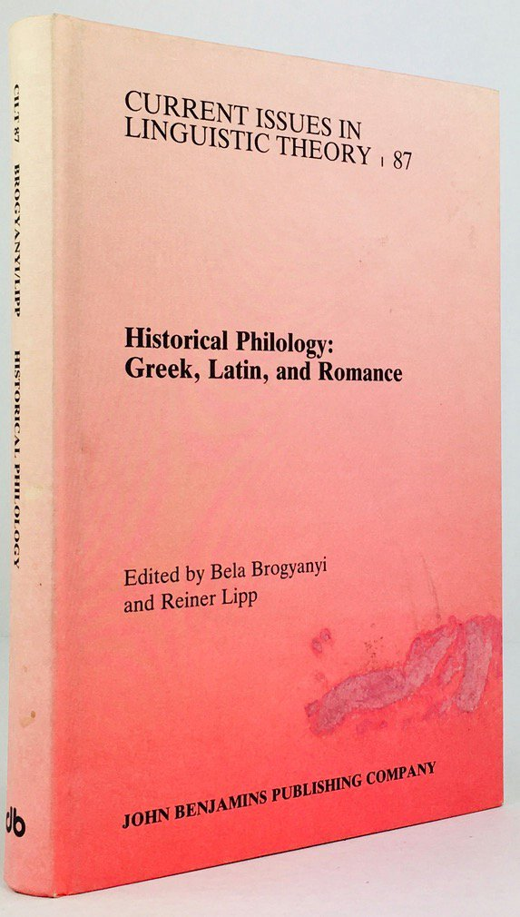 "Abbildung von ""Historical Philology. Greek, Latin, and Romance. Papers in Honor of Oswald Szemerényi II."""