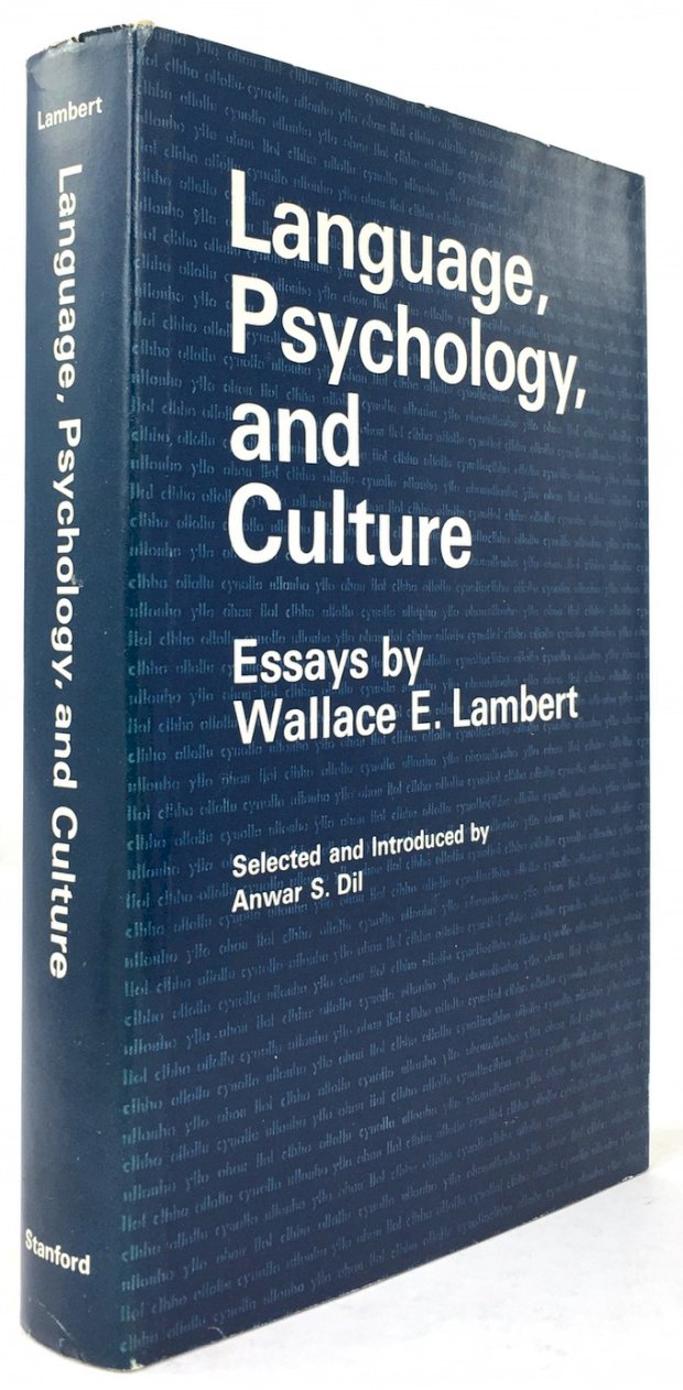 "Abbildung von ""Language, Psychology and Culture. Essays by Wallace E. Lambert. Selected and Introduced by Anwar S. Dil."""