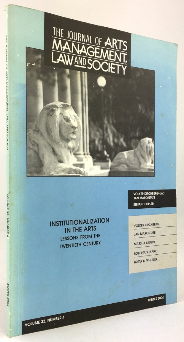 "Abbildung von ""Institutionalization in the Arts. Lessons from the Twentieth Century."""