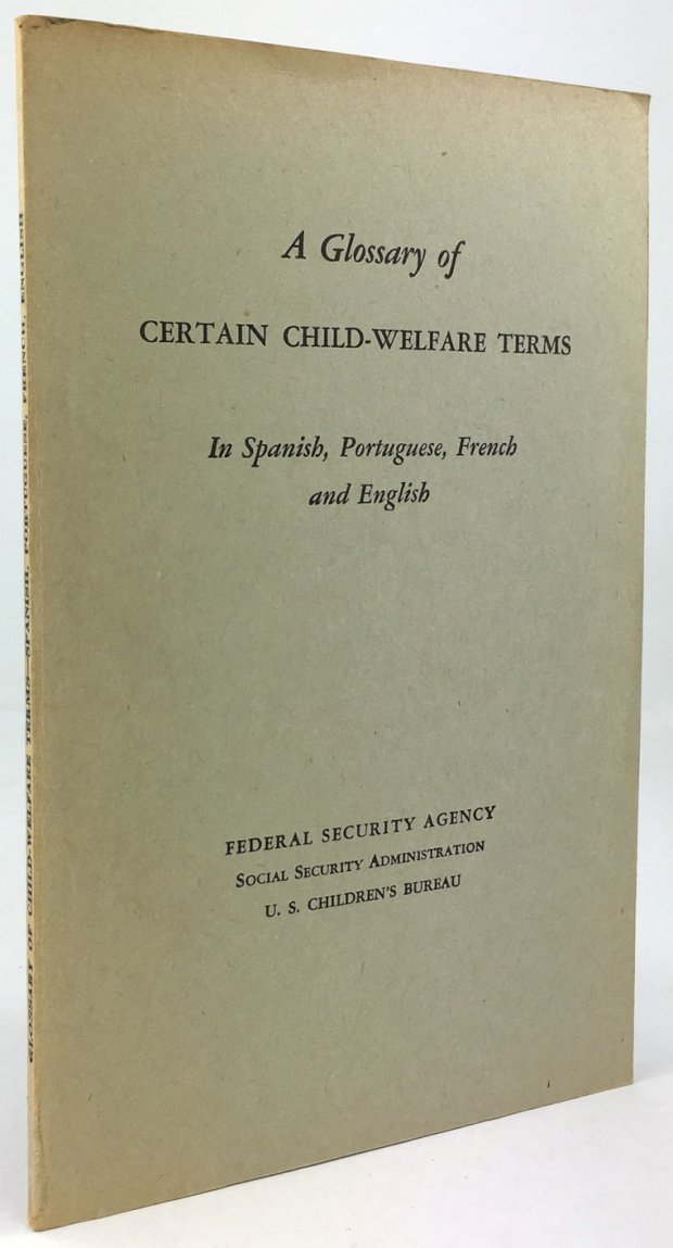 "Abbildung von ""A Glossary of certain child-welfare terms. In Spanish, Portuguese, French and English."""