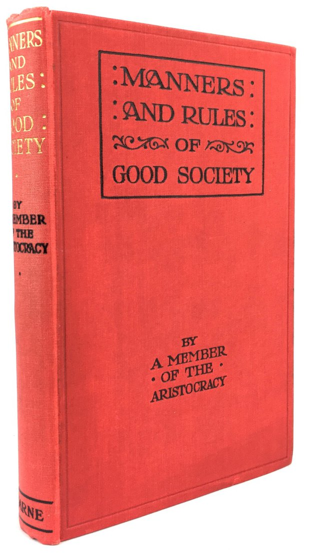 "Abbildung von ""Manners and rules of good society or solecisms to be avoided. Forty-fifth edition."""