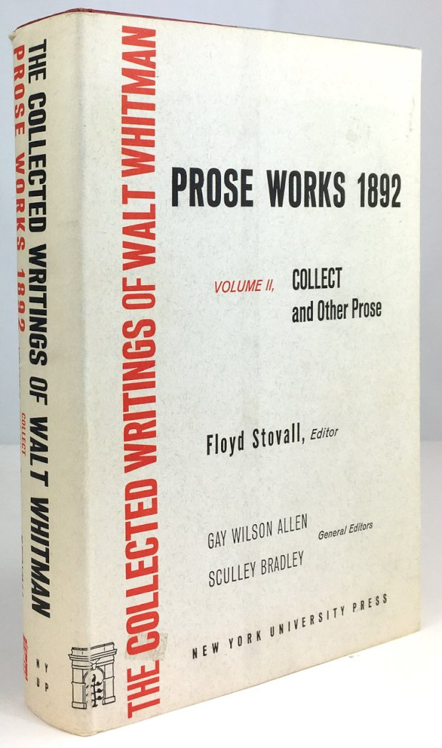 "Abbildung von ""Prose Works 1892. Volume II: Collect and other Prose. Edited by Floyd Stovall."""