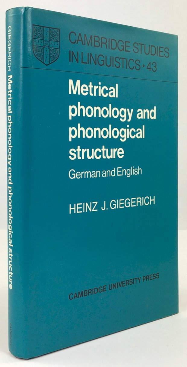 "Abbildung von ""Matrical Phonology and Phonological Structure. German and English."""