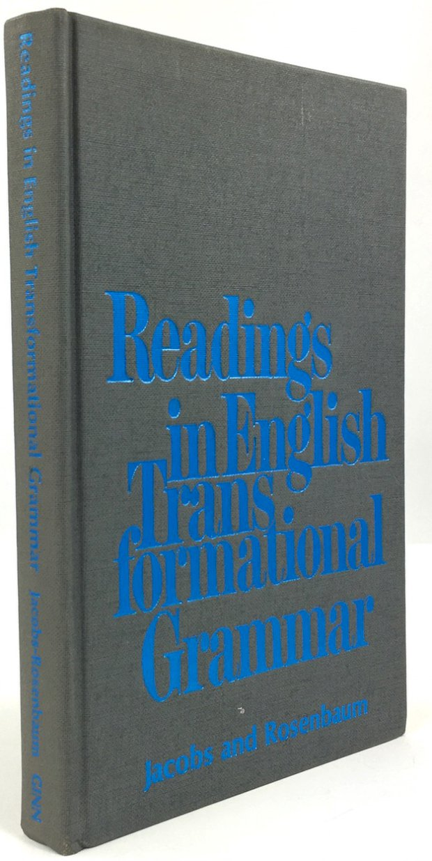 "Abbildung von ""Readings in English. Transformational Grammar."""