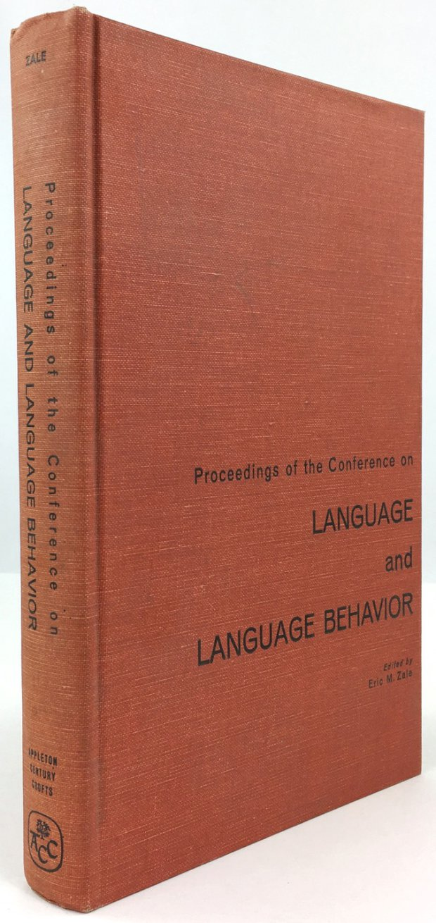 "Abbildung von ""Proceedings of the Conference on Language and Language Behavior."""