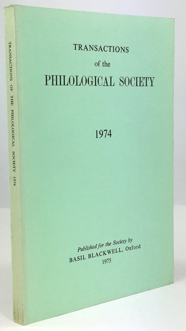 "Abbildung von ""Transactions of the Philological Society 1974."""