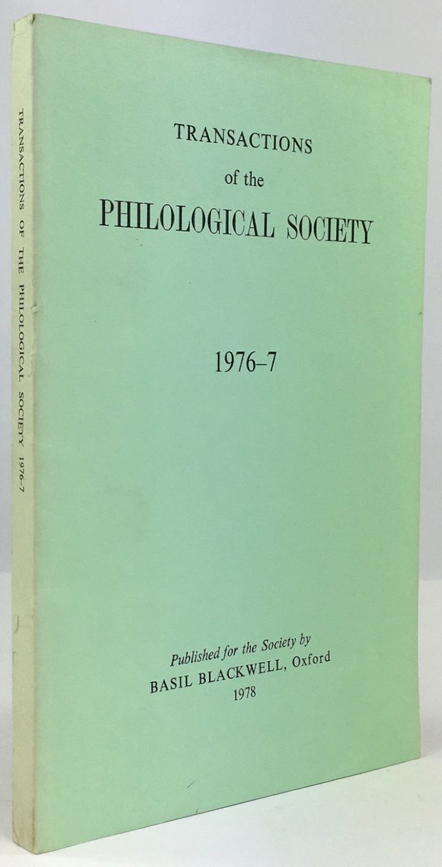 "Abbildung von ""Transactions of the Philological Society 1976 - 7."""