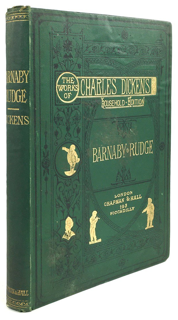 "Abbildung von ""Barnaby Rudge. A Tale of the Riots of 'Eighty'. With Forty-Six Illustrations by F. Barnard."""
